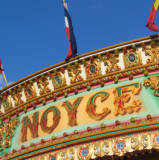 Colourful Fairground signs