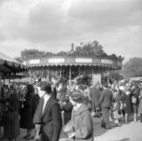 Nottingham Goose Fair, photographed 1956.