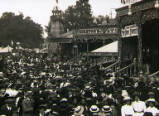 Oxford St Giles Fair, circa 1910.