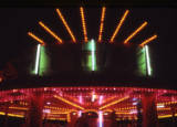 fairground lighting, 1974.