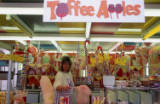 toffee apple stall, circa 1980.