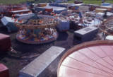 general view of Bridgwater Fair, 1974.