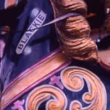 Gallopers horse detail, 1974.