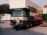 Anthony Harris' ERF Box Lorry, 1992.