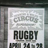 Denning and Wild's Circus, Rugby, 1973.